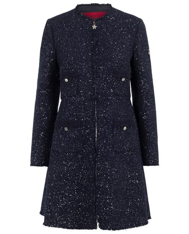 Moncler moraine virgin wool blend coat navyblue a40453