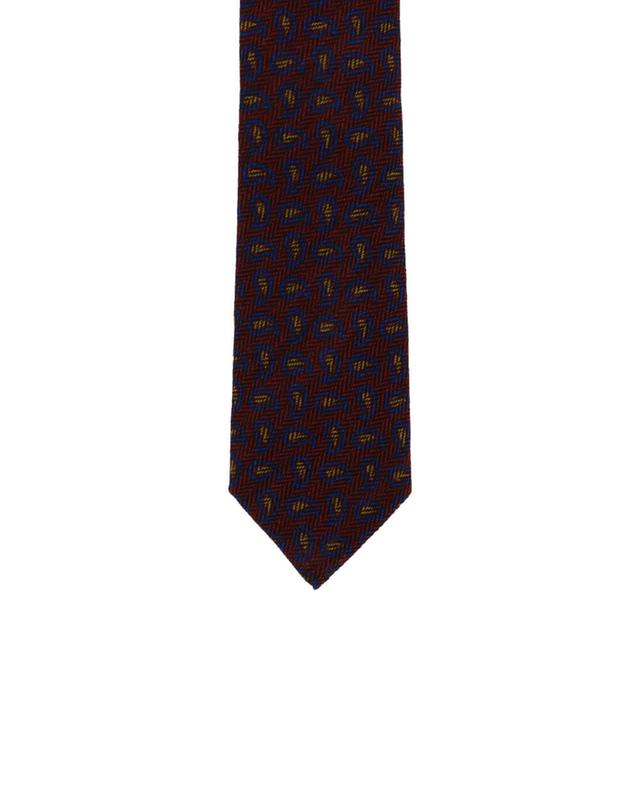 Patterned wool and silk tie ETRO