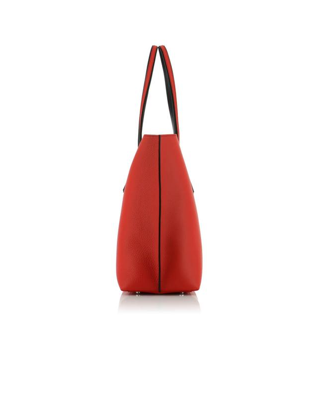 Tod's shopper aus genarbtem leder rot a40597