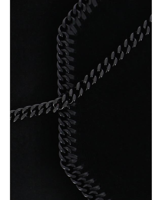 Stella mccartney clutch aus samt falabella schwarz a40678