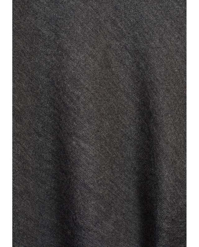 Pull en laine mérinos et soie Baldassari Anthracite