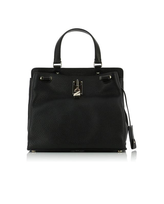 Valentino sac à main en cuir grainé joylock noir a40808