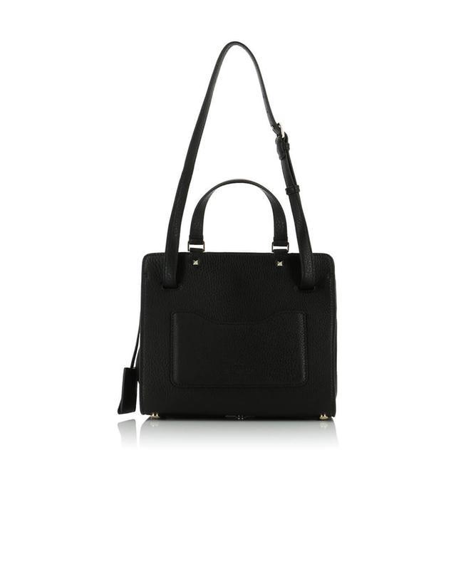 Valentino joylock textured leather handbag black a40808