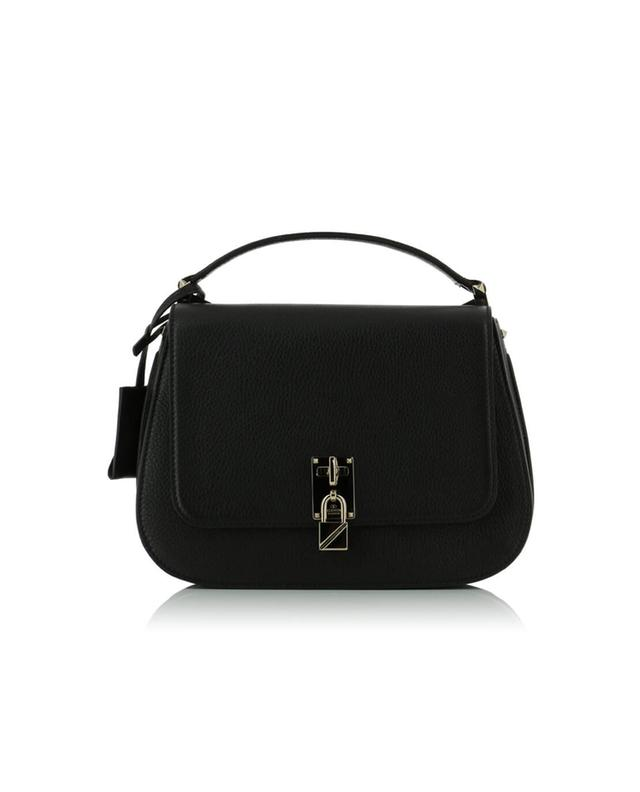 Valentino joylock messenger grained leather shoulder bag black