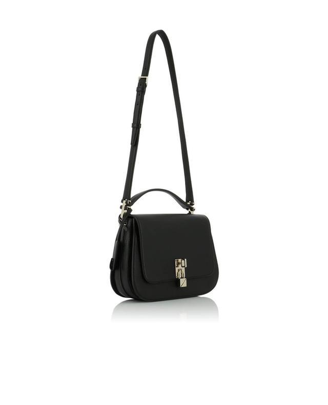 Valentino sac porté épaule en cuir grainé joylock messenger noir
