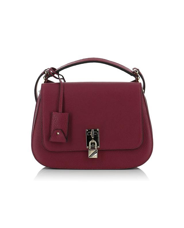 Valentino umhängetasche aus genarbtem leder joylock messenger rosa