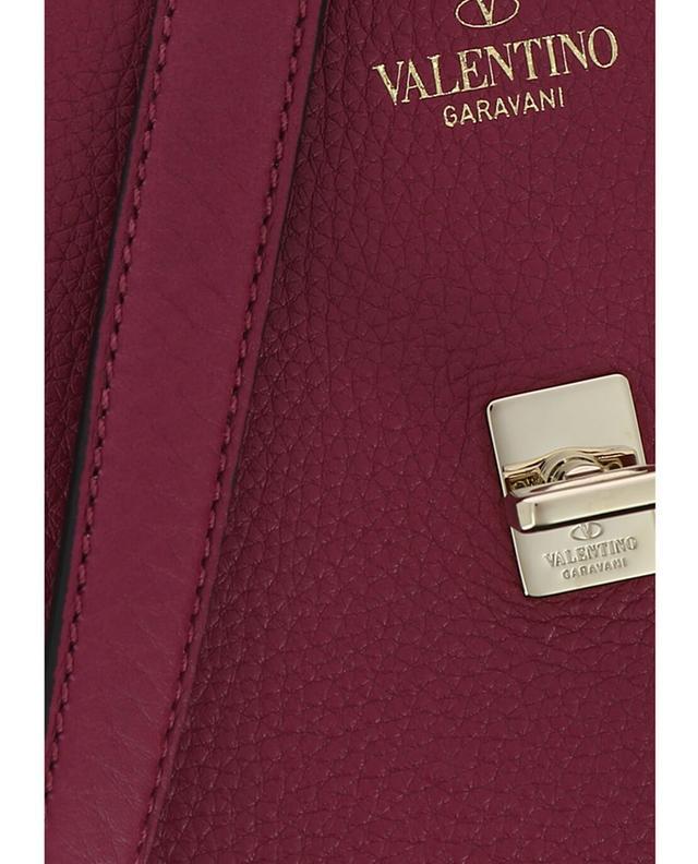 Valentino joylock messenger grained leather shoulder bag pink