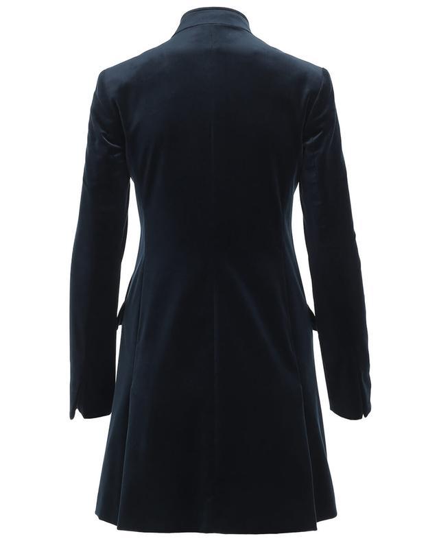 Manteau droit en velours PIAZZA SEMPIONE