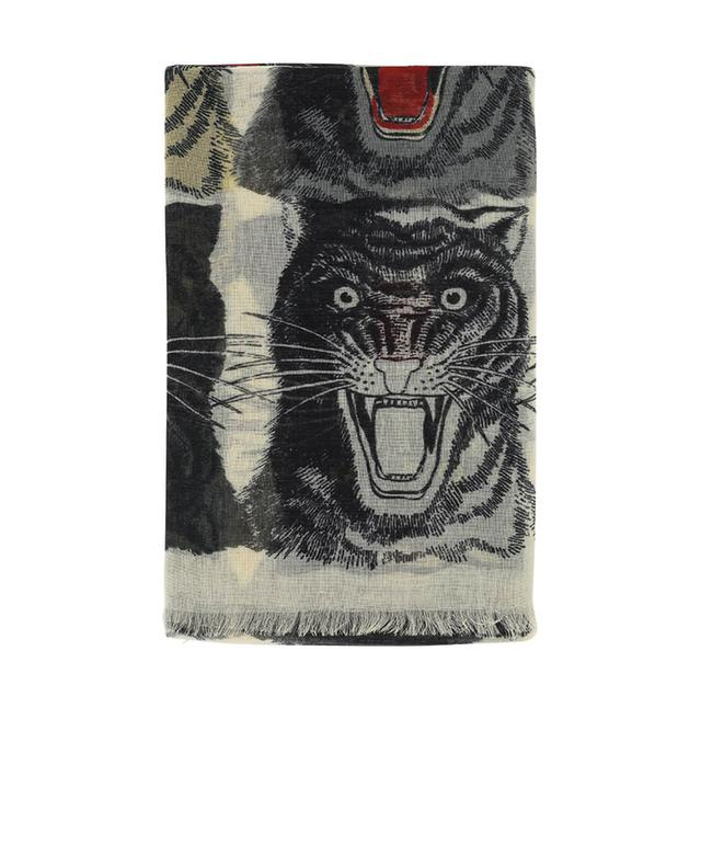 Gucci cashmere, wool and silk scarf white a41279
