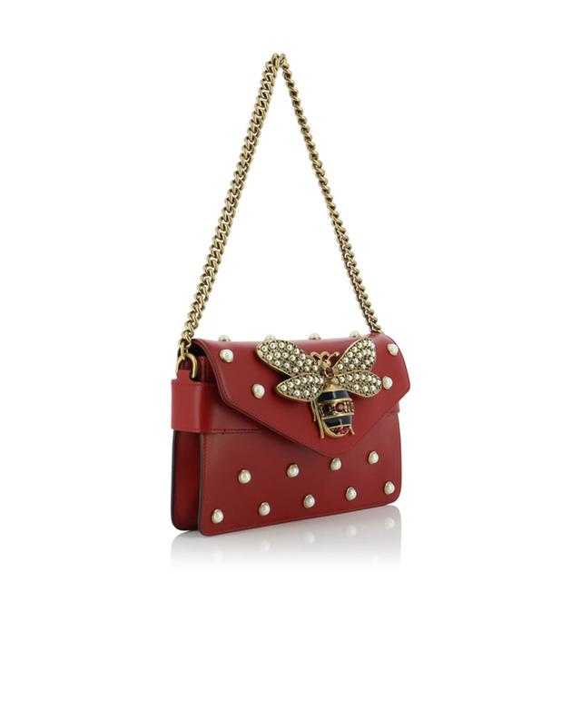 Gucci broadway leather bag red a41290