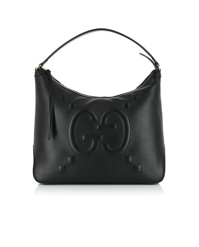 Gucci sac porté épaule en cuir noir a41303