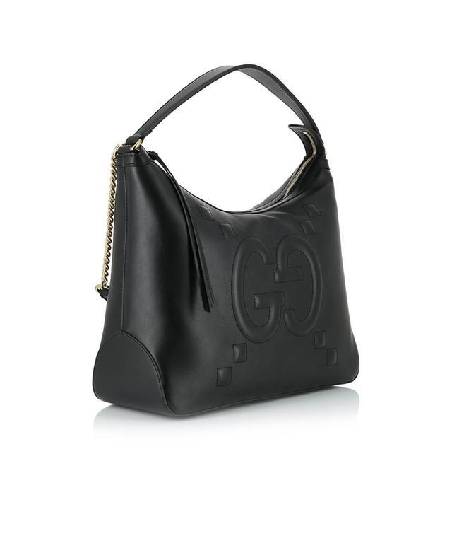 Gucci umhängetasche aus leder schwarz a41303
