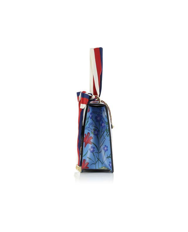 Gucci handtasche aus leder sylvie hellblau a41308