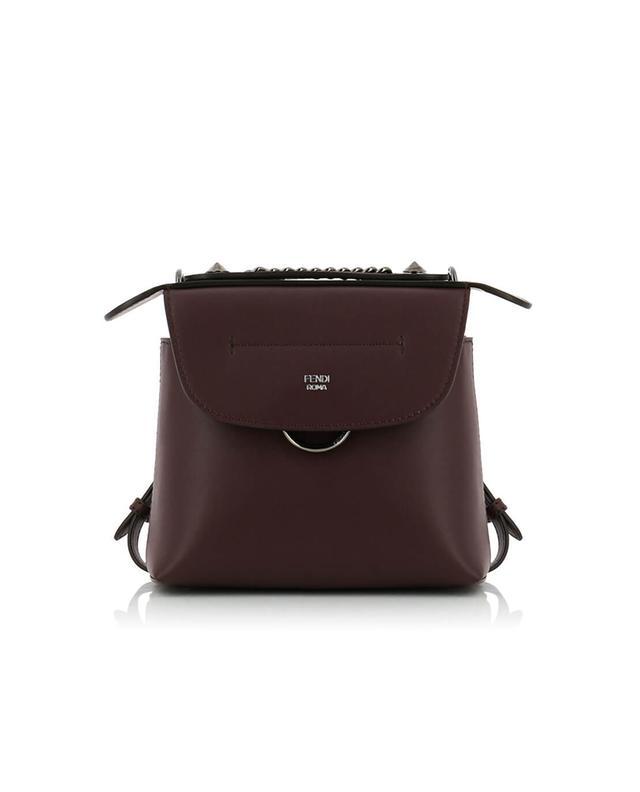 Fendi mini-sac à dos en cuir back to school bordeaux a41403