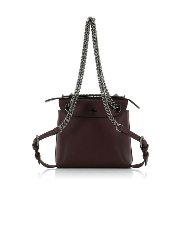 Fendi back to school leather mini-backpack burgundy a41403