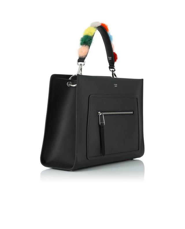 Fendi bandoulière en cuir amovible mini strap you noir