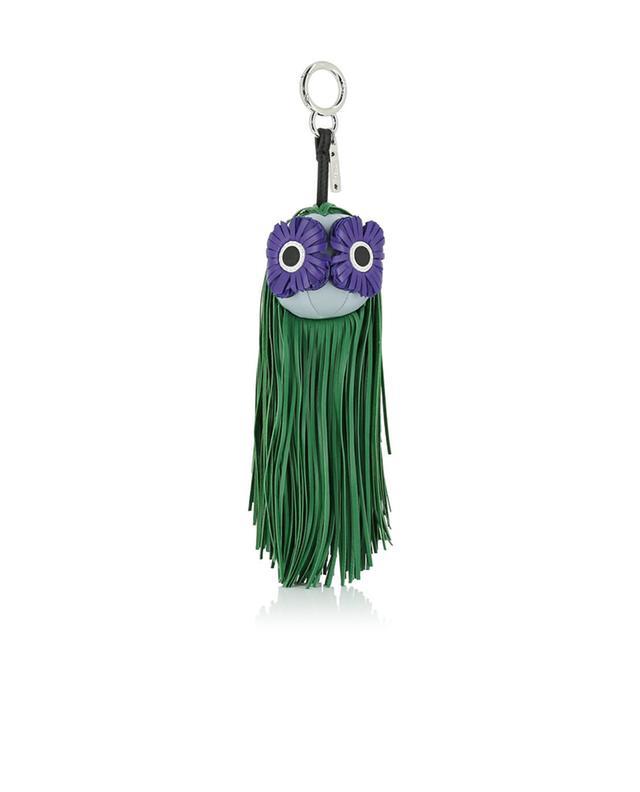 Fendi taschenhänger aus leder fringe-eyes grün a41412