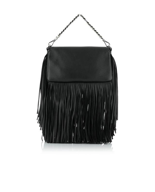 Fendi micro baguette leather handbag black a41423