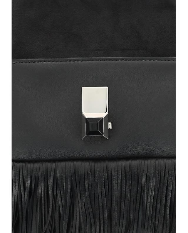 Fendi sac à main en cuir micro baguette noir a41423
