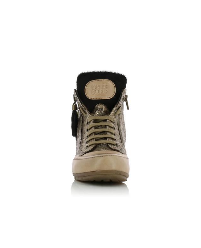 Hohe Sneakers aus Leder Lucia Zip 04 CANDICE COOPER