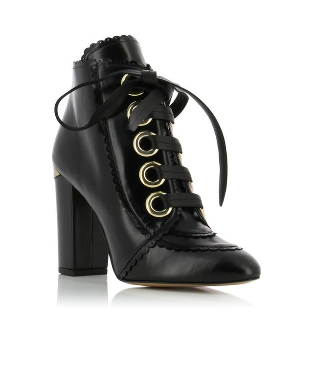 Smooth leather ankle boots with heels PURA LOPEZ