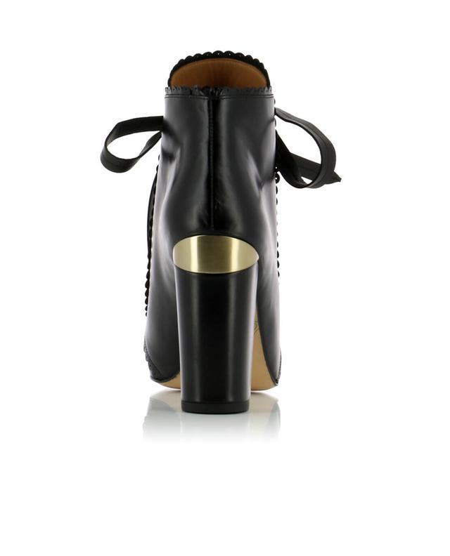 Stiefeletten aus glattem Leder mit Absatz PURA LOPEZ