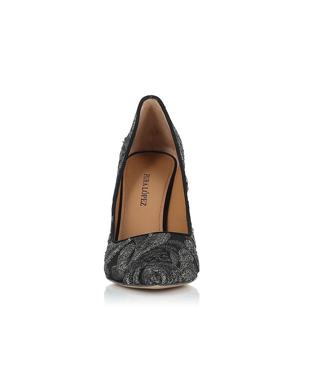 Embroidered fabric pumps PURA LOPEZ