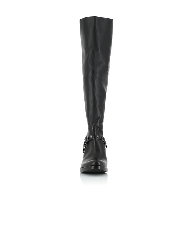 Leather and fabric Overknee boots FRU.IT