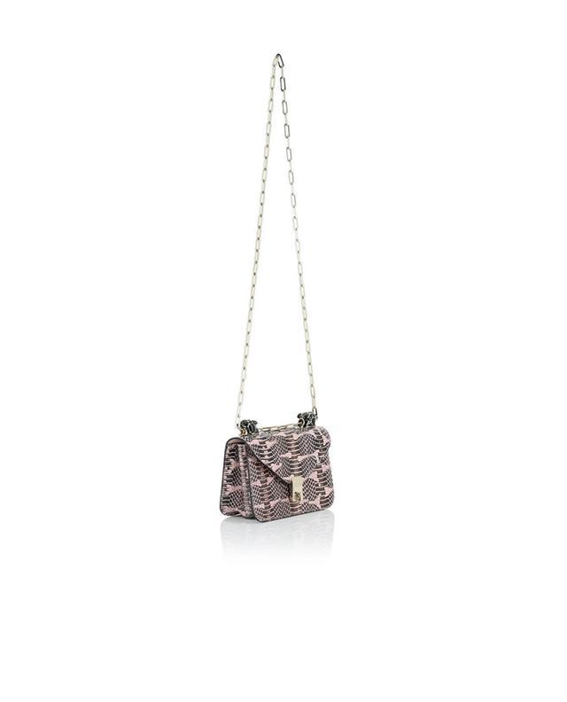 Valentino sac porté épaule en cuir de serpent roseclair