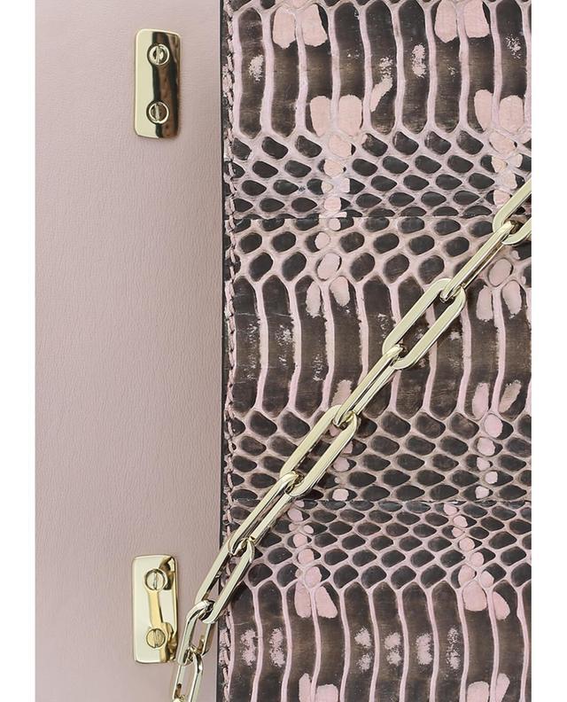 Valentino umhängetasche aus schlangenleder hellrosa a41527