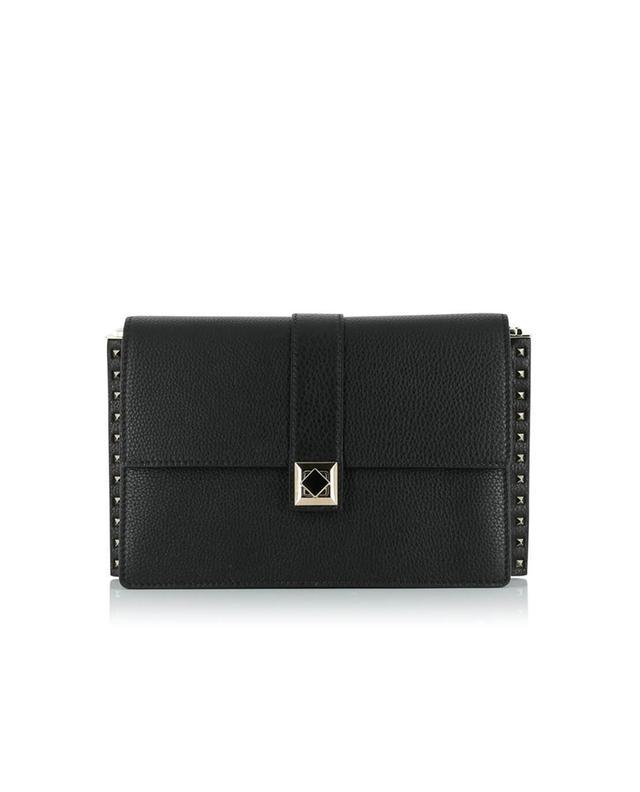 Valentino sac à main en cuir texturé noir a41528