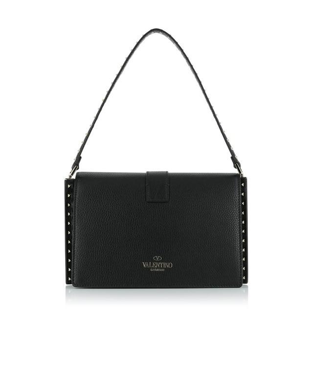 Valentino handtasche aus strukturiertem leder schwarz a41528