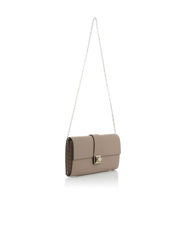 Valentino sac porté épaule en cuir roseclair a41529