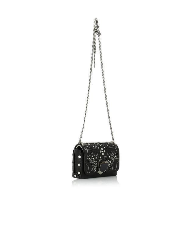 Jimmy choo sac porté épaule en cuir grainé lockett petite noir