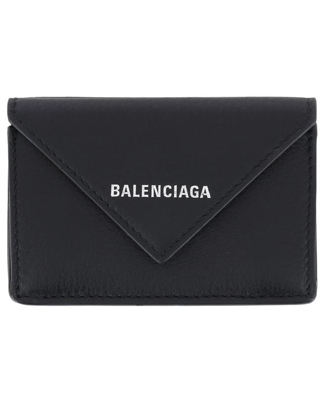Balenciaga leather mini-wallet black a41653