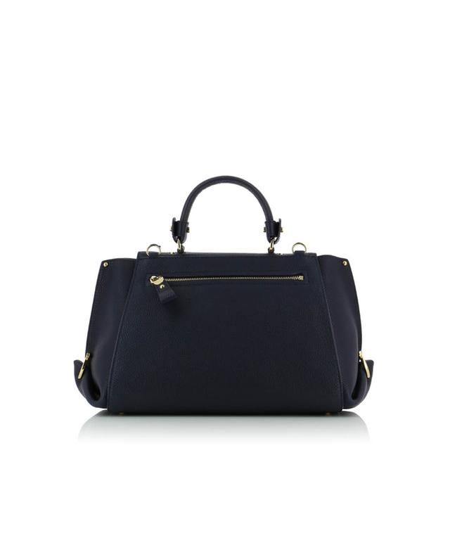 Salvatore ferragamo sofia grained leather shoulder bag navyblue