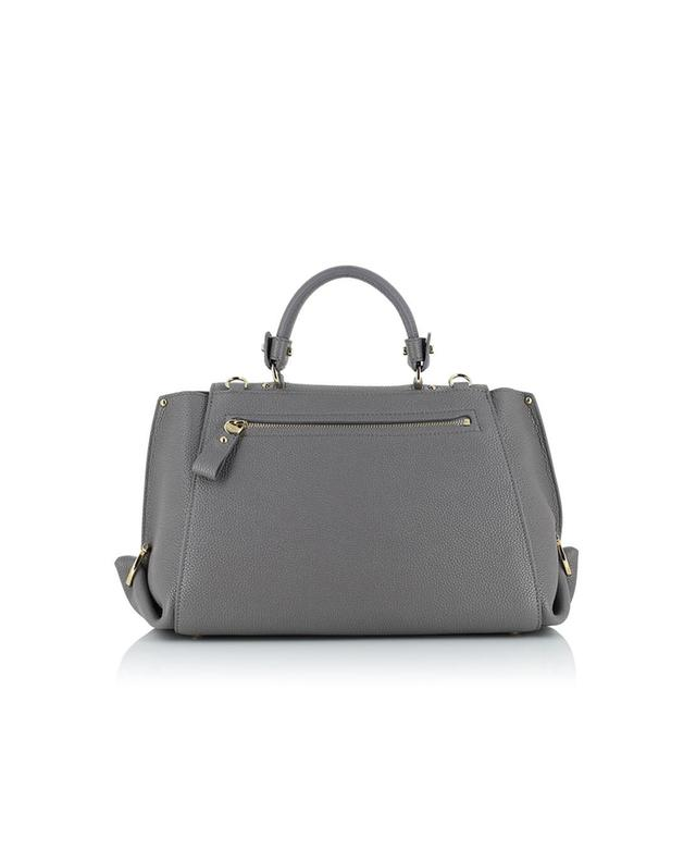 Salvatore ferragamo sofia grained leather shoulder bag grey