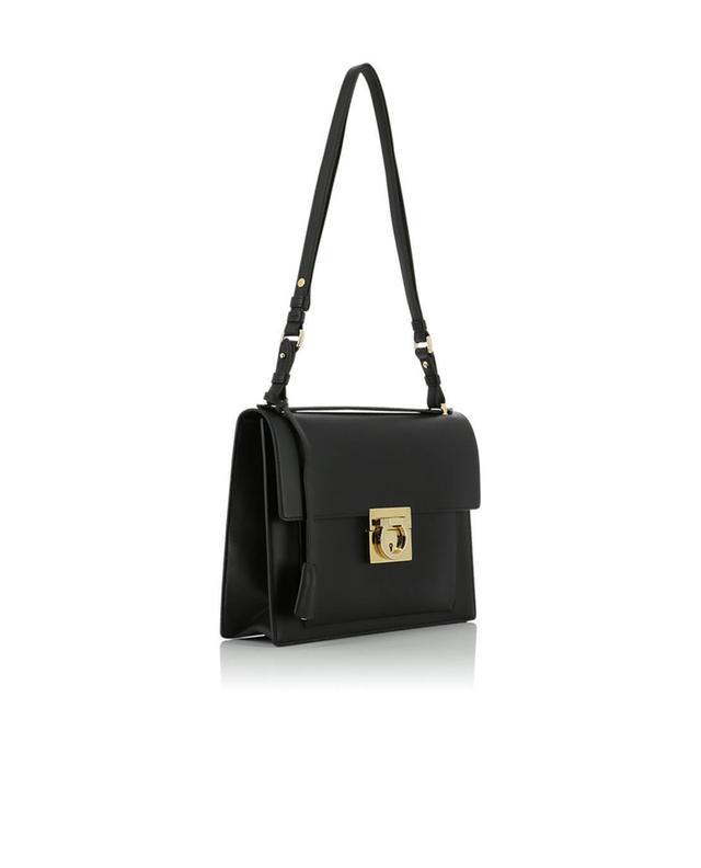 Salvatore ferragamo smooth leather shoulder bag black a41816