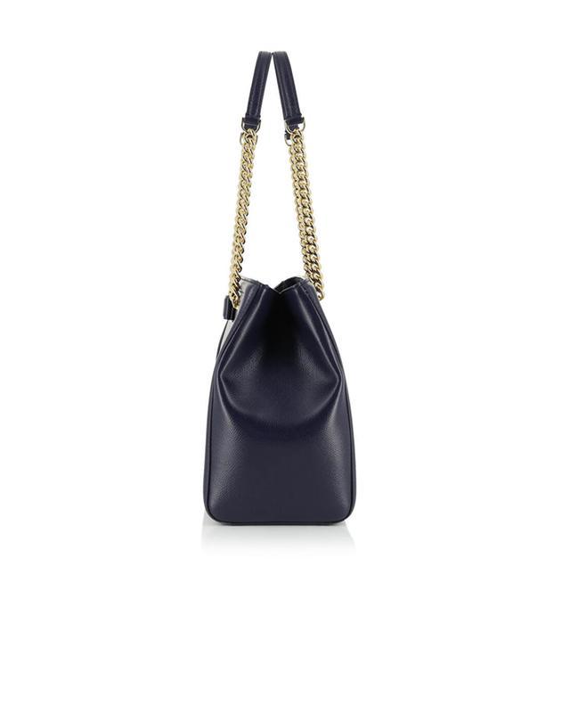 Salvatore ferragamo melike leather shoulder bag navyblue