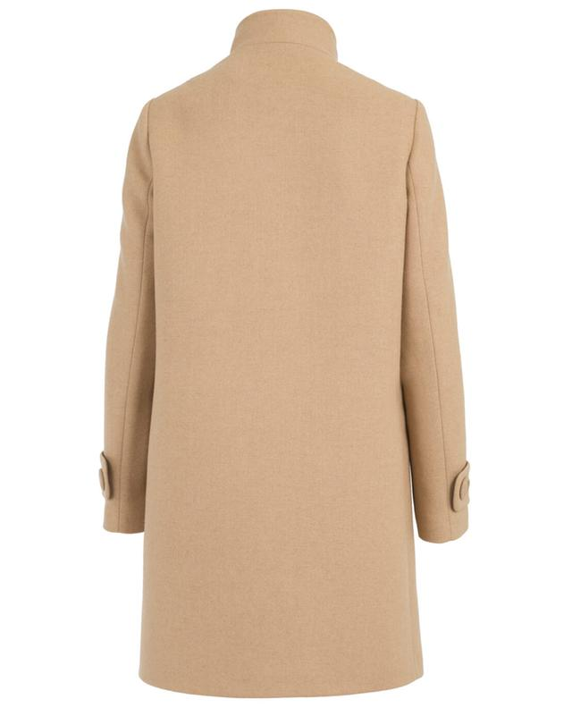 Straight wool blend coat FAY