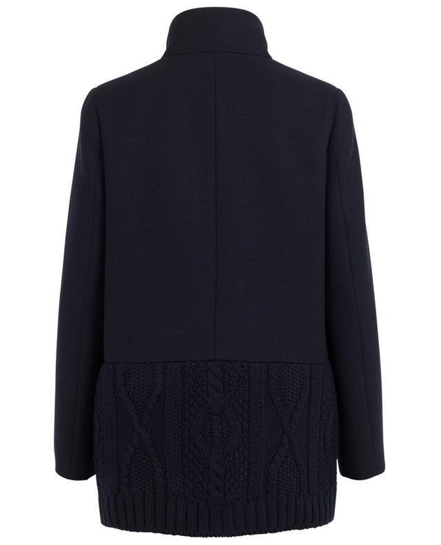 Half-long two-material wool blend coat FAY
