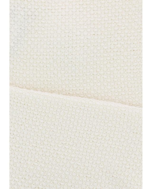 Lea clement fur embellished scarf white a41942