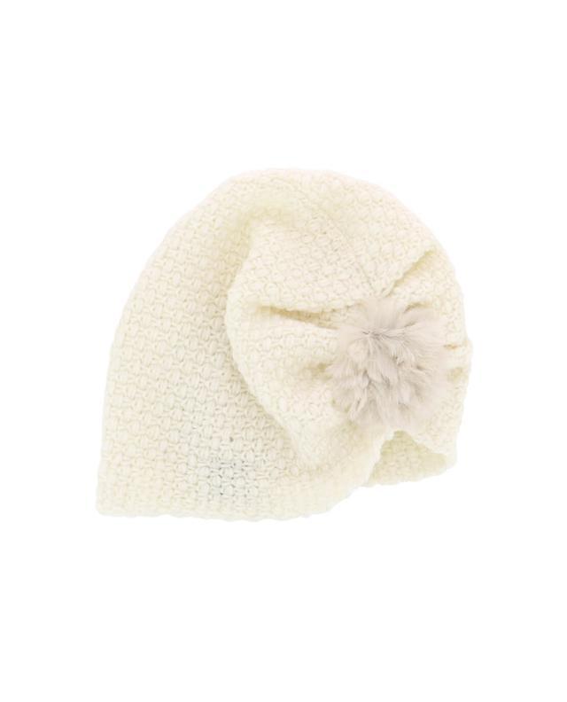 Lea clement mütze mit pelz weiss a41943