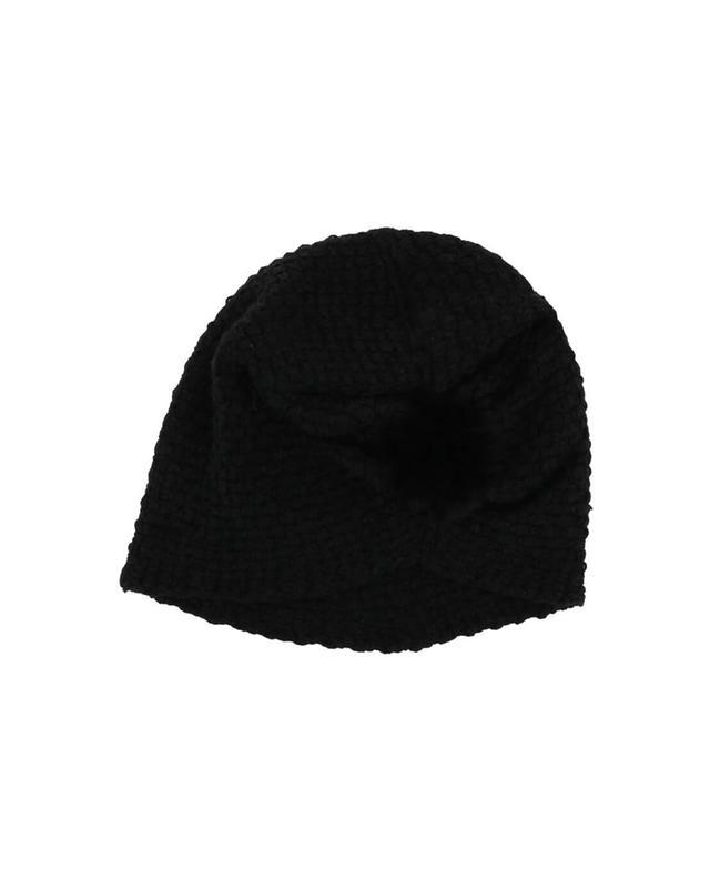 Lea clement bonnet avec fourrure noir a41943