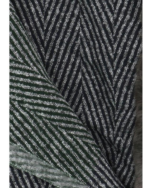 Lea clement wendbare stola mit pelzdetail anthrazit a41952