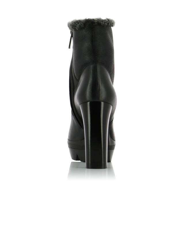 Shearling and leather ankle boots SANTONI