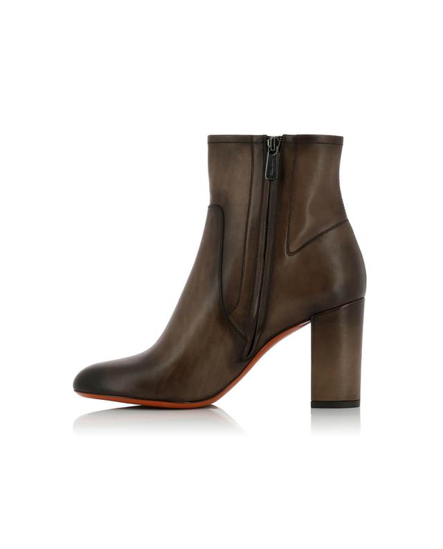 Smooth leather ankle boots with heels SANTONI