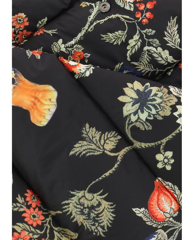Etro printed down scarf black a42046