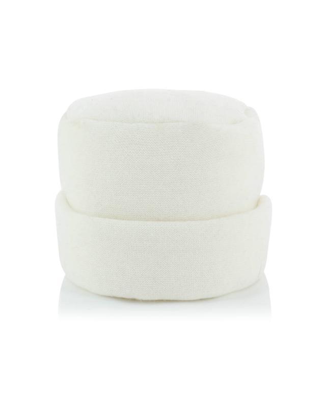 Charles muller sissi angora wool blend beanie with fur white