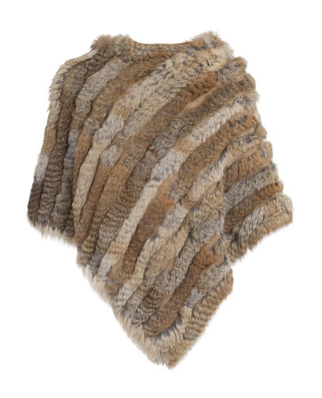 Fur and wool blend poncho GRAHAM&MARSHALL
